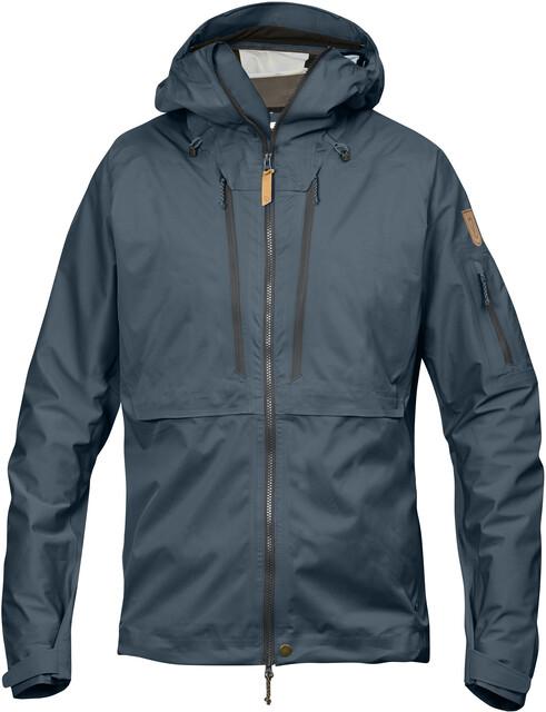 Køb Fjällräven Keb Eco Shell jakke til herre i blå | Spejder